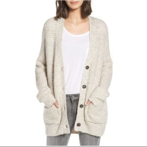 BP Anniversary Cardigan Beige Oversized Slouchy